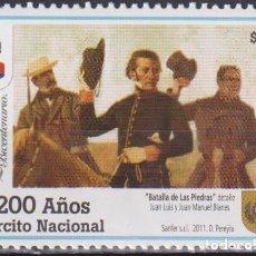 Sellos: ⚡ DISCOUNT URUGUAY 2011 THE 200TH ANNIVERSARY OF THE ARMED FORCES MNH - MILITARY. Lote 262872470