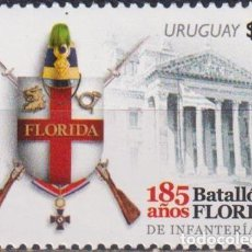 Sellos: ⚡ DISCOUNT URUGUAY 2014 THE 185TH ANNIVERSARY OF THE FLORIDA BATTALION MNH - WEAPON, COATS O. Lote 262873885