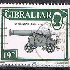 Sellos: GIBRALTAR 530, CAÑÓN 64 FOUNDER A.M.L. DE 1873, USADO. Lote 263562845