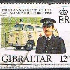 Sellos: GIBRALTAR 400, 150 ANIVERSARIO DE LA POLICIA GIBRALTAREÑA, USADO. Lote 263566735