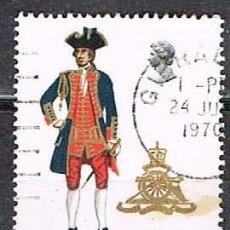 Sellos: GIBRALTAR 227, UNIFORME MILITAR: ARTILLERIA REAL DE 1726, USADO. Lote 263714220