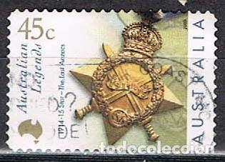 AUSTRALIA 1904, PRIMERA GUERRA MUNDIAL, MEDALLA, USADO (Sellos - Temáticas - Militar)