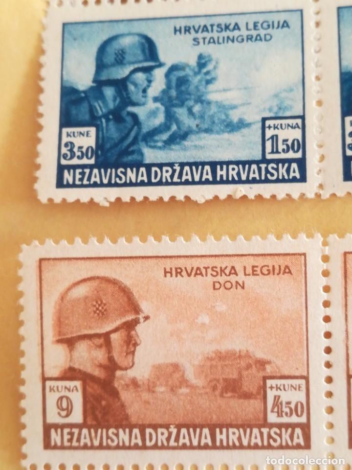 Sellos: Set antiguos sellos Alemania reich nazi legión SS ocupación Hrvatska con goma - Foto 2 - 267247704