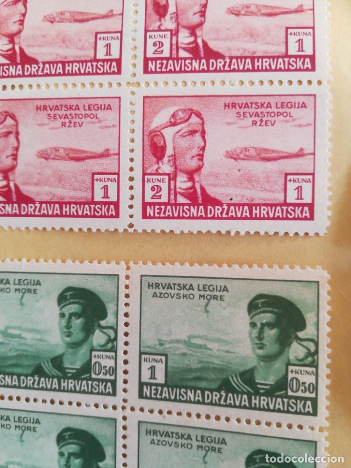 Sellos: Set antiguos sellos Alemania reich nazi legión SS ocupación Hrvatska con goma - Foto 3 - 267247704