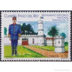 Sellos: ⚡ DISCOUNT URUGUAY 2002 PASO DEL REY BARRACK, SARANDI DEL YI MNH - ARCHITECTURE, MILITARY. Lote 268836134