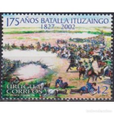 Sellos: ⚡ DISCOUNT URUGUAY 2002 THE 175TH ANNIVERSARY OF THE ITUZAINGO BATTLE MNH - WARS, HORSES. Lote 268836199