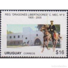 "Sellos: ⚡ DISCOUNT URUGUAY 2005 THE 100TH ANNIVERSARY OF THE CAVALRY REGIMENT ""DRAGONES LIBERTADORES"". Lote 268836359"