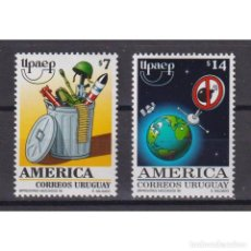 Sellos: ⚡ DISCOUNT URUGUAY 1999 AMERICA - A NEW MILLENNIUM WITHOUT ARMS MNH - SPACE, WEAPON. Lote 270389248