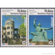 Sellos: ⚡ DISCOUNT URUGUAY 2015 THE 70TH ANNIVERSARY OF THE ATOMIC BOMBINGS OF HIROSHIMA AND NAGASAKI. Lote 270392038