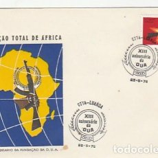 Sellos: ANGOLA & FDC XIII ANIVERSARIO DE LA O.U.A, TOTAL LIBERATION DE AFRICA, LUANDA 1976 (87686). Lote 271067593