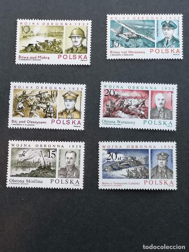 MILITAR HISTORIA POLONIA SELLOS SERIE COMPLETA YVERT 2921/23 2966/68 NUEVO MNH *** (Sellos - Temáticas - Militar)