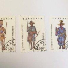 Sellos: 5 SELLOS TEMA UNIFORMES DE TANZANIA. Lote 276952553