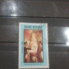 Sellos: SELLO GUINEA BISSAU MTDOS(1 DE 7V)/1989/200ANIV/REVOLUCION/FRANCESA/ARTE/CUADRO/UNIFORME/MILITAR. Lote 277588728