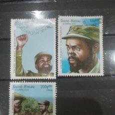 Sellos: SELLO GUINEA BISSAU MTDOS(6 DE 7V)/1988/2ANIV/MUERTE/PRESIDENTE/SAMORA/MOZAMBIQUE/UNIFORME/MILITAR/S. Lote 277635313