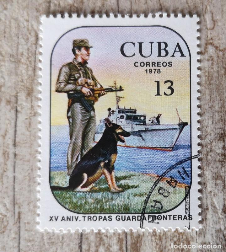 CUBA. . ANIVERSARIO TROPAS GUARDA FRONTERAS. LA HABANA 1978. MILITAR. (Sellos - Temáticas - Militar)
