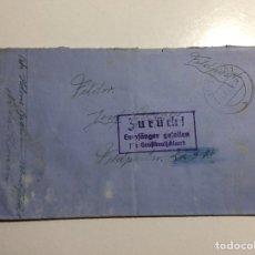 Sellos: FELDPOST CORREO DE CAMPAÑA ALEMANIA 1943.DEVUELTA POR DESTINATARIO MUERTO EN COMBATE.VER DESCRIPCIÓN. Lote 286803868