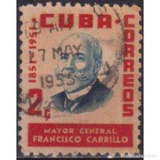 Sellos: ⚡ DISCOUNT CUBA 1955 MAJOR-GENERAL F. CARRILLO U - MILITARY. Lote 289965773