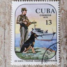 Sellos: CUBA. . ANIVERSARIO TROPAS GUARDA FRONTERAS. LA HABANA 1978. MILITAR.. Lote 291998698