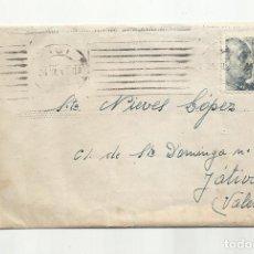 Sellos: CIRCULADA 1947 DE BARCELONA A XATIVA JATIVA VALENCIA. Lote 294854548