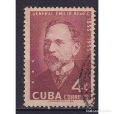 Sellos: ⚡ DISCOUNT CUBA 1955 THE 100TH ANNIVERSARY OF THE BIRTH OF GENERAL NUNEZ U - REVOLUTIONARIES. Lote 295960788