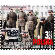 Sellos: ⚡ DISCOUNT POLAND 2019 THE 100TH ANNIVERSARY OF MILITARY COMMUNICATIONS PERSONNEL IN ZEGRZE M. Lote 295964218