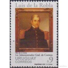 Sellos: ⚡ DISCOUNT URUGUAY 2000 THE 220TH ANNIVERSARY OF THE BIRTH OF LUIS DE LA ROBLA MNH - MILITAR. Lote 295967298