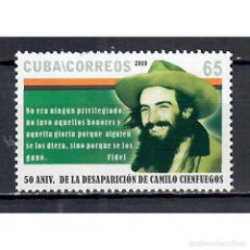 Sellos: ⚡ DISCOUNT CUBA 2009 THE 50TH ANNIVERSARY OF THE DEATH OF CAMILO CIENFUEGOS, 1932-1959 MNH -. Lote 296026648
