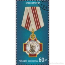 Sellos: ⚡ DISCOUNT RUSSIA 2021 STATE AWARDS OF THE RUSSIAN FEDERATION - ORDER OF PIROGOV U - THE ORD. Lote 296064678