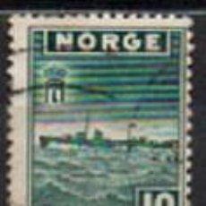Sellos: NORUEGA IVERT Nº 263 (AÑO 1945) EMISIÓN DE LONDRES POR EL GOBIERNO EN EL EXILIO: DESTRUCTOR SLEIPNER. Lote 296685533