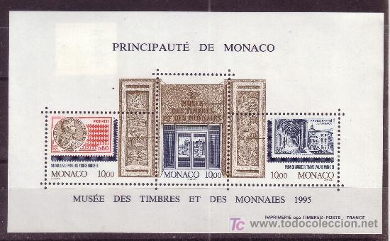 MÓNACO HB 69*** - AÑO 1995 - MUSEO POSTAL Y DE LA MONEDA (Sellos - Extranjero - Europa - Mónaco)