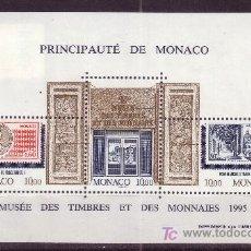 Sellos: MÓNACO HB 69*** - AÑO 1995 - MUSEO POSTAL Y DE LA MONEDA. Lote 24885715