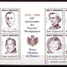 Sellos: MÓNACO HB 72*** - AÑO 1996 - 20º ANIVERSARIO DE LOS ANALES MONAGUESCOS. Lote 25442649
