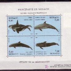 Sellos: MÓNACO HB 64*** - AÑO 1994 - FAUNA MARINA - CETÁCEOS DEL MEDITERRÁNEO. Lote 25895670