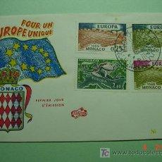 Sellos: 1923 MONACO 1962 TEMA EUROPA SOBRE PRIMER DIA EMISION SPD MAS EN MI TIENDA COSAS&CURIOSAS. Lote 5785064