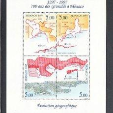 Sellos: MONACO HB 76 SIN CHARNELA, EVOLUCION GEOGRAFICA DEL TERRITORIO DEL PRINCIPADO,. Lote 11602123