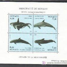 Sellos: MONACO HB 64 SIN CHARNELA, FAUNA, CETACEOS DEL MEDITERRANEO, PROTECCION DEL DESARROLLO MARINO,. Lote 11826820