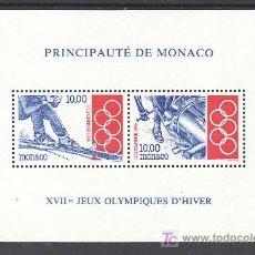 Sellos: MONACO HB 63 SIN CHARNELA, DEPORTE, JUEGOS OLIMPICOS DE INVIERNO EN LILLEHAMMER (NORUEGA). Lote 11843864