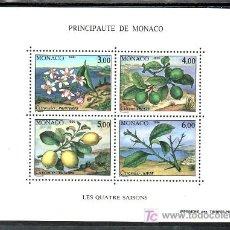 Sellos: MONACO HB 51 SIN CHARNELA, LAS 4 ESTACIONES DEL LIMON, PRIMAVERA, VERANO, OTOÑO, INVIERNO,. Lote 11950285