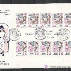Sellos: MONACO HB 46 PRIMER DIA, TEMA EUROPA 1989, JUEGOS INFANTILES,. Lote 10928701