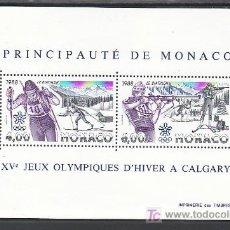 Sellos: MONACO HB 40 SIN CHARNELA, DEPORTE, JUEGOS OLIMPICOS DE INVIERNO EN CALGARY (CANADA). Lote 12085405
