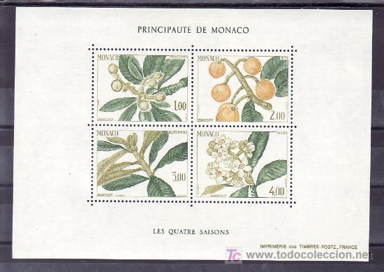 MONACO HB 31 SIN CHARNELA, LAS 4 ESTACIONES DEL NISPERO, PRIMAVERA, VERANO, OTOÑO, INVIERNO, (Sellos - Extranjero - Europa - Mónaco)