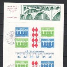 Sellos: MONACO HB 28 PRIMER DIA, TEMA EUROPA 1984, 25º ANIVERSARIO DE LA CONFERENCIA EUROPEA . Lote 11063195