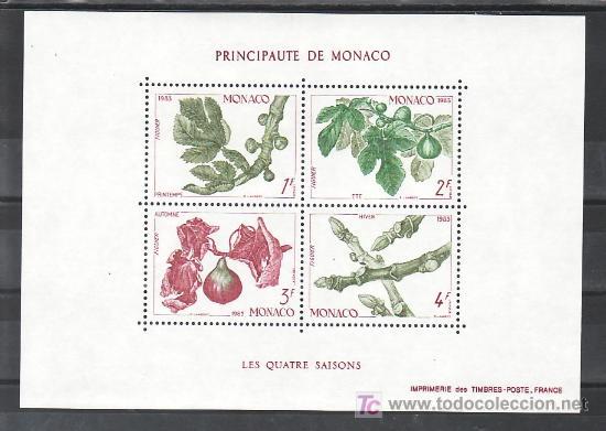 MONACO HB 26 SIN CHARNELA, LAS 4 ESTACIONES DE LA HIGUERA, PRIMAVERA, VERANO, OTOÑO, INVIERNO, (Sellos - Extranjero - Europa - Mónaco)