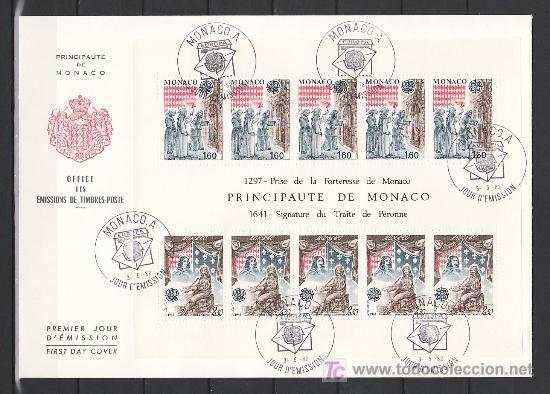 MONACO HB 22 PRIMER DIA, TEMA EUROPA 1982, HECHOS HISTORICOS, (Sellos - Extranjero - Europa - Mónaco)