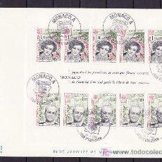 Sellos: MONACO HB 18 PRIMER DIA, TEMA EUROPA 1980, PERSONAJES CELEBRES, . Lote 10956350