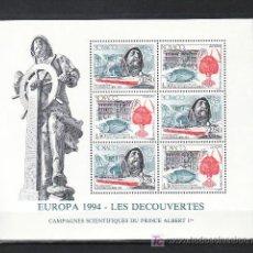 Sellos: MONACO HB 65 SIN CHARNELA, TEMA EUROPA 1994, BARCO, PESCA, FAUNA, EUROPA Y LOS DESCUBRIMIENTOS,. Lote 11663008
