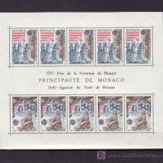 Sellos: MONACO HB 22 SIN CHARNELA, TEMA EUROPA 1982, HECHOS HISTORICOS,. Lote 10838867