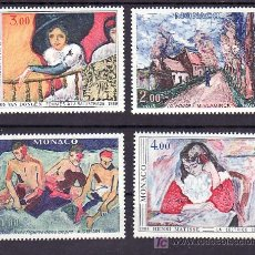Sellos: MONACO 1241/4 SIN CHARNELA, PINTURA, 75º ANIVERSARIO DEL SALON DEL OTOÑO DE 1905, . Lote 11462444