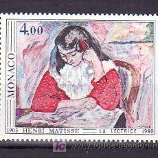 Sellos: MONACO 1243 SIN CHARNELA, PINTURA LA LECTURA, 75º ANIVERSARIO DEL SALON DEL OTOÑO DE 1905. Lote 11462453