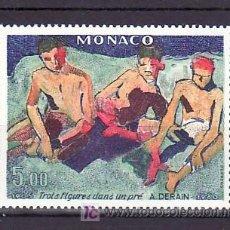 Sellos: MONACO 1244 SIN CHARNELA, PINTURA TRES FIGURAS EN EL PRADO, 75º ANIVERSARIO DEL SALON DEL OTOÑO 1905. Lote 11462501